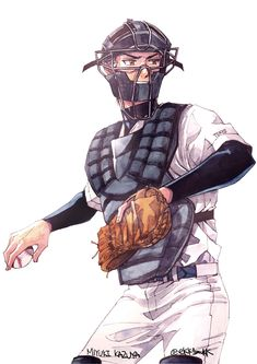 Baseball Anime, Hot Baseball Guys, Baseball Art, Manga Art, Anime Art, Diamond No Ace, Miyuki Kazuya, Diamond Wallpaper, Handsome Anime Guys