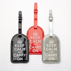 Keep Calm Carry On Luggage Tags from Z Gallerie Cute Gifts, Great Gifts, Best Carry On Luggage, Keep Calm Carry On, Affordable Modern Furniture, Stylish Home Decor, Home Decor Store, Desk Accessories, Traveling By Yourself