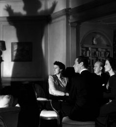 Rex Harrison, Margaret Rutherford,Constance Cummings, Hugh Wakefield and Joyce Carey in Blithe Spirit 1945