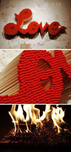 LOVE - with matchsticks