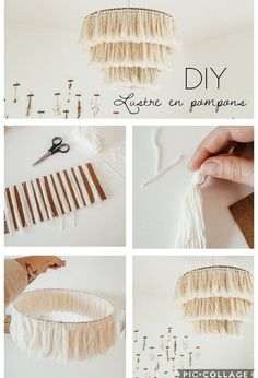 DIY : Mon abat-jour effet macramé projects for the home crafts Diy Home Crafts, Easy Diy Crafts, Diy Crafts To Sell, Diy Crafts For Kids, Sell Diy, Crafts For The Home, Handmade Crafts, Upcycled Crafts, Kids Diy