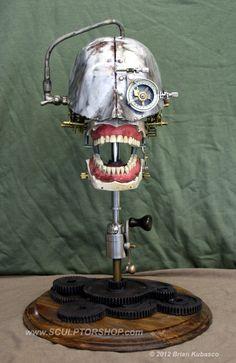 Steampunk Skull  Industrial Art Dental Manikin