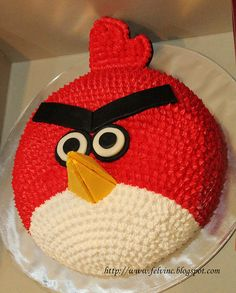 Angry bird cake, gonna attempt to make this cake for the twins party...
