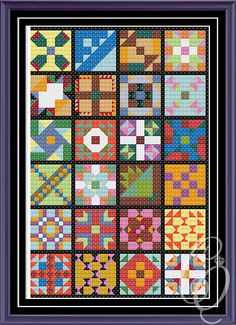 Granny's Quilt PDF Cross Stitch Pattern by CowlQueen on Etsy, $5.00