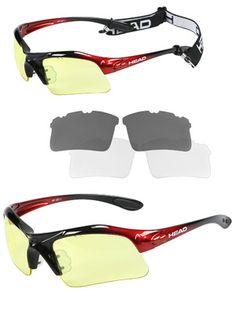 bb5023f750 HEAD Raptor Racquetball Eyewear - Red Black