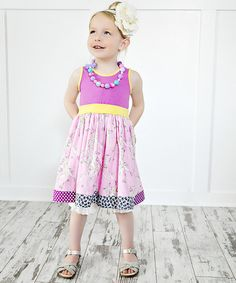 Look at this Fuchsia & Pink Savannah Amy Dress - Infant, Toddler & Girls on #zulily today!