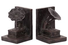 Gramophone Bookends (Set of 2)