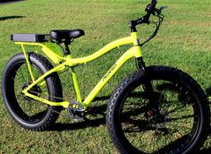 Pedego's monster electric bike. Up to 20mph on sand or off road trails. Distance of 20 miles on a single charge!