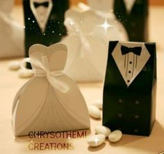 Send out your favors with unique wedding favor boxes,wedding favor boxes with ribbon and white favor box and you can have the best one-hot candy box bride groom wedding bridal favor gift boxes gown tuxedo 100 pcs = 50 pair new from beautie__factory. Wedding Favors And Gifts, Wedding Favor Boxes, Groom Box, Diy Cadeau Noel, Wedding Groom, Bride Groom, Tree Wedding, Tuxedo Wedding, Wedding Dress