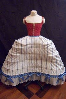 Idle Hands: What's Underneath: Quilted Petticoat and Pannier c. 1750 Rococo Fashion, Edwardian Fashion, Vintage Fashion, Gothic Fashion, 18th Century Clothing, 18th Century Fashion, Historical Costume, Historical Clothing, 18th Century Costume
