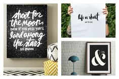 9 beautiful inspirational quote art prints we love