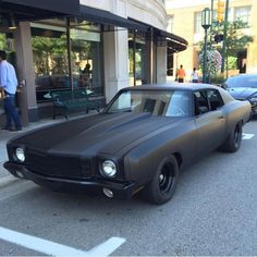 belcolor: Chevrolet Monte Carlo I Love Matte Black. Cuz killas don't get talked about, they get whispered about, else you get murdered out! Cool Muscle Cars, Muscle Cars Vintage, Custom Muscle Cars, Cool Cars, Modern Muscle Cars, Custom Cars, Chevrolet Monte Carlo, Monte Carlo Car, Dragster Car