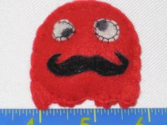 Felt Brooch  Pin Packman Style The Red Ghost with by melsumn1, $6.00