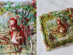 red riding hood, embroidery x C