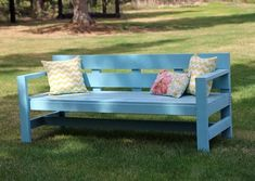Ana White | Build a Modern Park Bench | Free and Easy DIY Project and Furniture Plans