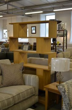 Conran Bookcase Counter Balance Tall Shelving Unit in Oak Ex Display