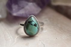 Teardrop Turquoise Ring, Boho Rings, Turquoise Rings, Simple Rings, Personalised Rings, Fashion Rings, Aztec Rings, Bohemian Rings, Teardrop