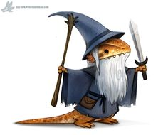 Daily Paint #1097. Bearded Dragon by Cryptid-Creations.deviantart.com on @DeviantArt