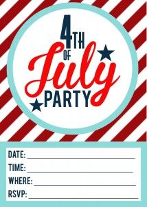 Adorable holiday invitations to use for your 4th of July Party | FREE Invitation Printables | www.moritzfineblogdesigns.com