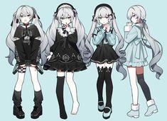 Anime Girl Dress, Manga Anime Girl, Anime Girl Cute, Kawaii Anime Girl, Anime Chibi, Fantasy Character Design, Character Design Inspiration, Character Art, Drawing Anime Clothes