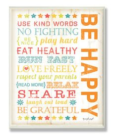 {'Be Happy' Wall Art by Stupell Industries}