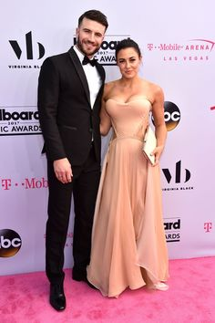 Sam hunt totally embarrassed his fiance hannah lee fowler at the sam hunt and hannah lee fowler m4hsunfo