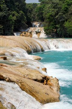 Agua Azul waterfall, Chiapas, Mexico.I would love to go see this place one day.Please check out my website thanks. www.photopix.co.nz