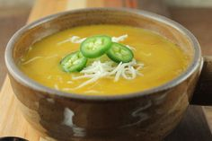 might be good over other veggies - Slow Cooker Southwestern Sweet Potato Soup Recipe Healthy Slow Cooker, Slow Cooker Soup, Slow Cooker Recipes, Crockpot Recipes, Cooking Recipes, Chili Recipes, Yummy Recipes, Vegetarian Recipes, Yummy Food