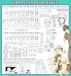 Character Aging Tutorial ✤    CHARACTER DESIGN REFERENCES   キャラクターデザイン   çizgi film • Find more at https://www.facebook.com/CharacterDesignReferences if you're looking for: #grinisti #komiks #banda #desenhada #komik #nakakatawa #dessin #anime #komisch #drawing #manga #bande #dessinee #BD #historieta #sketch #strip #artist #fumetto #settei #fumetti #manhwa #koominen #cartoni #animati #comic #komikus #komikss #cartoon    ✤