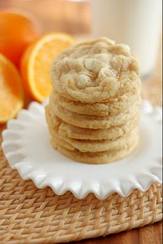 "Oranges and Cream Cookie with White Chocolate or Regular Chocolate Chips...I will definitely use my doTERRA ""wild orange"" essential oil for this recipe"