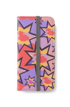 A colorful #iphone #wallet that will fit your #outfit and fully cover your #smartphone. #redbubble