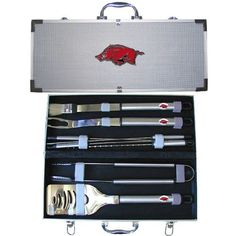 Arkansas Razorbacks NCAA 8pc BBQ Tools Set