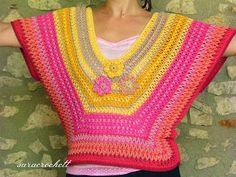 Irish crochet &: Туника радужная