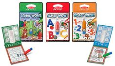 Melissa & Doug Water Wow Bundle Animals, Alphabet and Numbers Paint Kit - No mess activity for travel