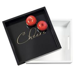 "Cathy's Concepts CH2170 Cheers 12"" Lacquer Tray   #wedding"