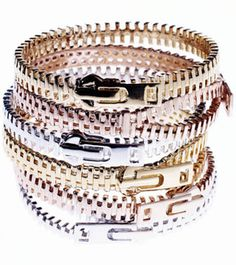 Disya Zipper Bracelet. I've never seen these before, very cool and different