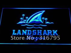 a158 Landshark Larger Beer Bar Pub NR LED Neon Sign with On/Off Switch 7 Colors 4 Sizes to choose