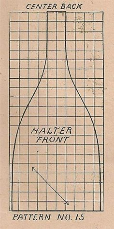 The pattern pieces for Taffeta Party Apron: