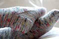 multicolor fuzzy socks
