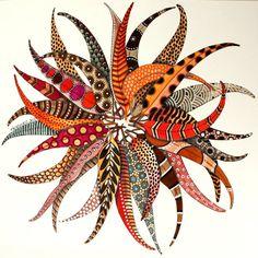 original and unique eucalyptus wreath hand painted by Elena Nuez