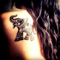 Elephant Tattoo Designs for Girls31