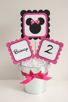 Minnie Mouse Party Centerpiece by 5M Creations
