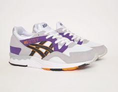 #Asics Gel Lyte V Grey Purple Orange #sneakers