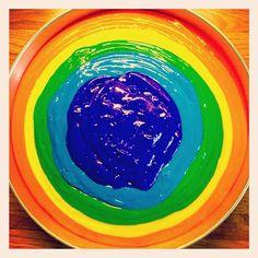 Making a Rainbow Birthday Cake