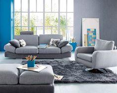 dco intrieur bleu et gris deco salon bleu et gris canap mobilier rangement commodes - Decoration Salon Bleu