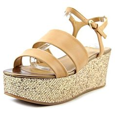 e8068700fb2e Aldo Womens Craerwen Wedge Sandal Nude 39 EU85 B US -- Find out more about