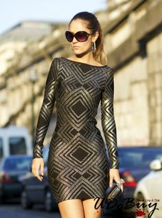 Ruxandra Ioana In Black Halter Long Sleeve Bandage Dress H479H $139. Good news,now you can get our one free gift when your order is over $119,welcome to my store: http://www.udobuy.com/search.php?intro=daily_new @Quincy ☀ Fisher @Samantha West @wedding chicks @William Smith @wishbuuk @Wesley Teague