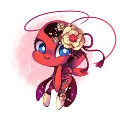 """thefeatherwings: """" Ladybug's style!! They really are the cutest things, aren't they? ^//w//^ """""""