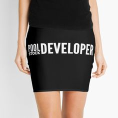 'Pool Stock - Full Stack Web Developer' Mini Skirt by Grunge Fashion, Alternative Fashion, Tank Top Shirt, Web Development, Streetwear Fashion, Chiffon Tops, Cheer Skirts, High Waisted Skirt, Mini Skirts