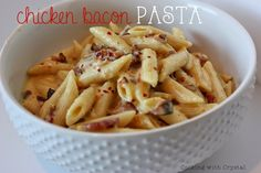 Share Tweet Pin Mail This recipe is my latest addiction. I love the blend of bacon, pasta, chicken and the sauce….whoa! it's outstanding. I've ...